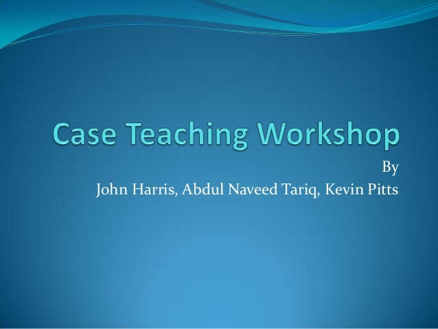 By John Harris, Abdul Naveed Tariq, Kevin Pitts