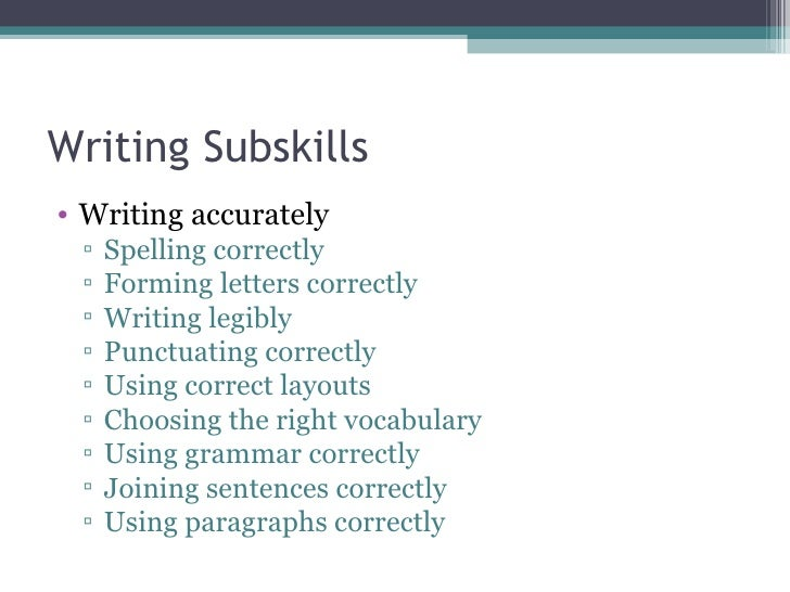 writing as a skill As you get further along in the writing of your thesis, you will start to think about its  quality and whether there is anything you can do to improve this in this section.