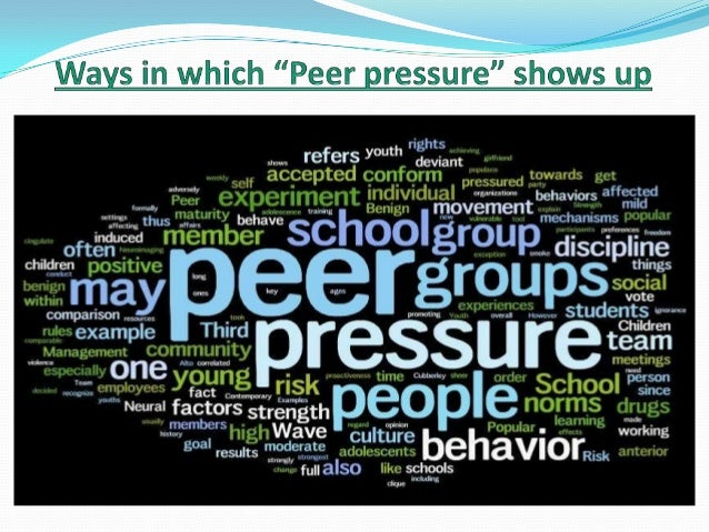 peer group influence Peer pressure (or social pressure) is the direct influence on people by peers, or the effect on an individual who gets encouraged to follow their peers by changing their attitudes, values or behaviors to conform to those of the influencing group or individual.