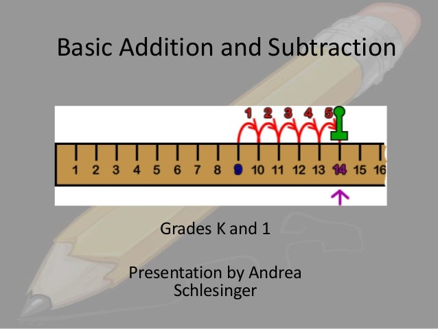 Basic Addition and Subtraction  Grades K and 1 Presentation by Andrea Schlesinger