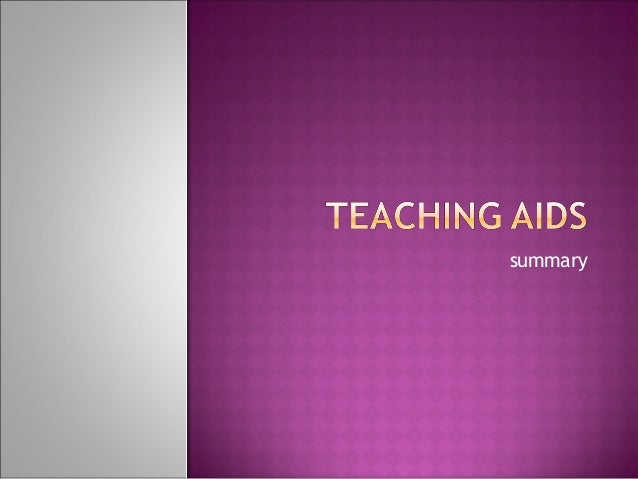 teaching aids thesis 66 chapter vii teaching and learning aids in the lesson structure p j van zyl rand afrikaans university 1 introduction when there is talk of teaching and learning aids in the lesson.