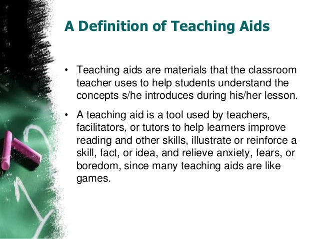 5. Teaching Aids: ...