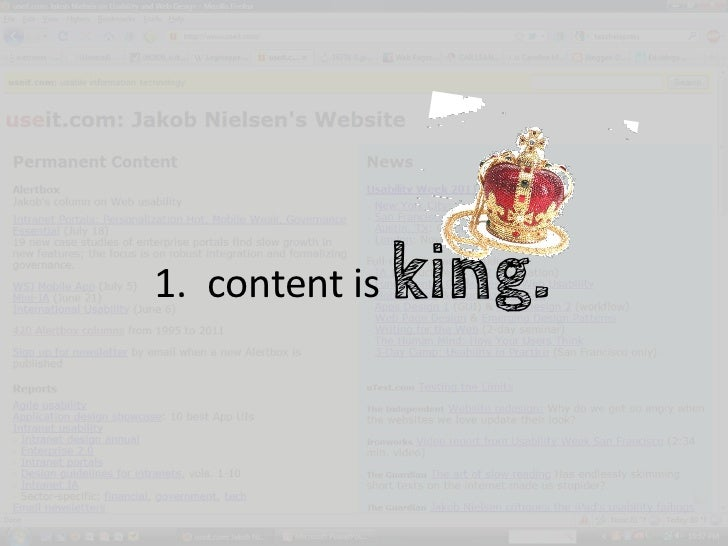 1. content is   king.