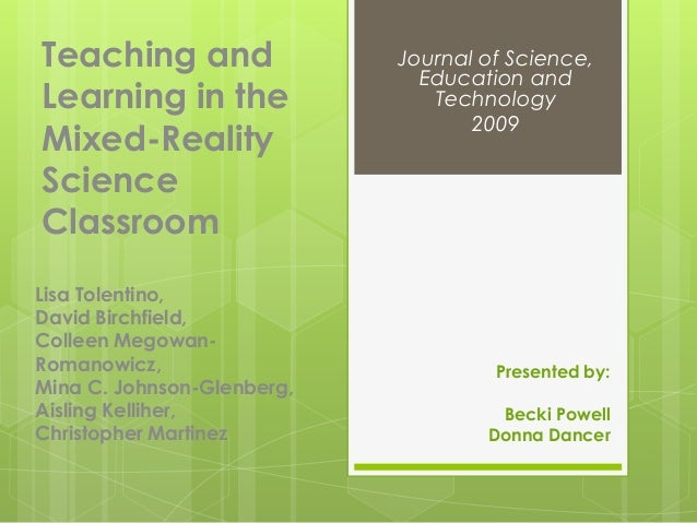 Teaching and                Journal of Science,                              Education andLearning in the                T...