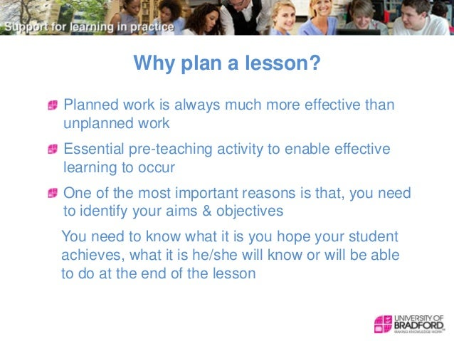 Teaching And Learning Lesson Planning