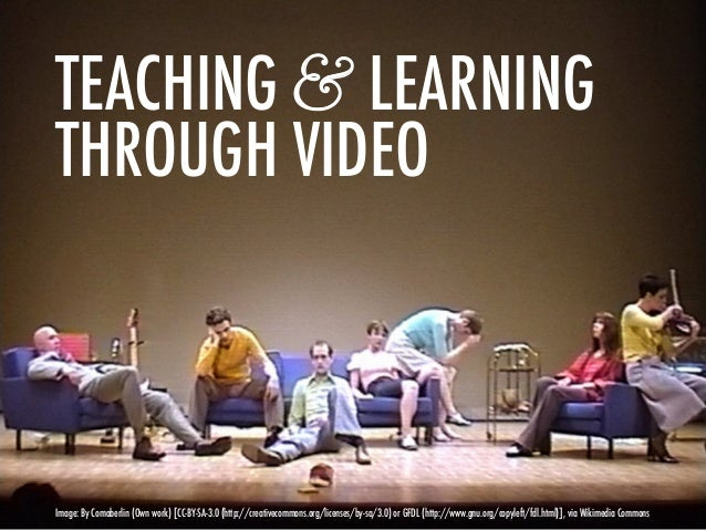 TEACHING & LEARNINGTHROUGH VIDEOImage: By Comaberlin (Own work) [CC-BY-SA-3.0 (http://creativecommons.org/licenses/by-sa/3...