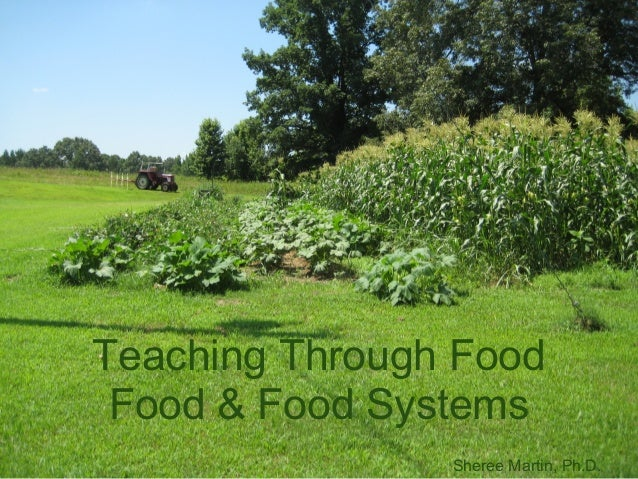 Teaching Through Food Food & Food Systems                Sheree Martin, Ph.D.