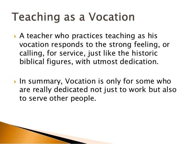 Teaching as a profession essay