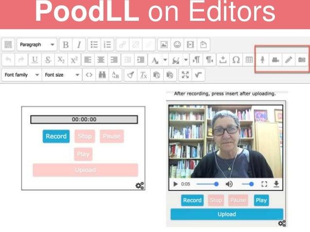 PoodLL on Editors