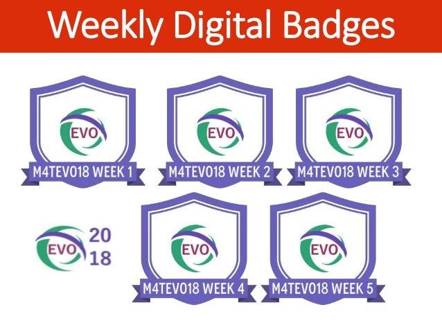 Weekly Digital Badges