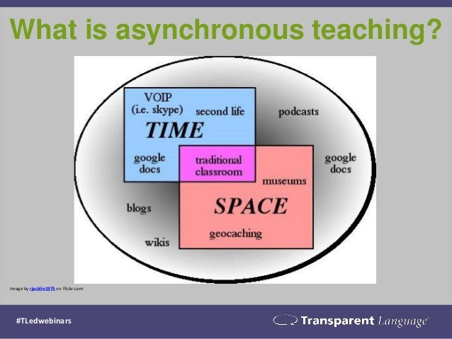 Image by rjacklin1975 on Flickr.com What is asynchronous teaching? #TLedwebinars