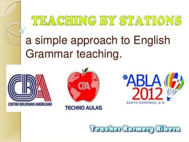 a simple approach to EnglishGrammar teaching.