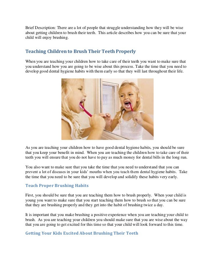Brief Description: There are a lot of people that struggle understanding how they will be wiseabout getting children to br...