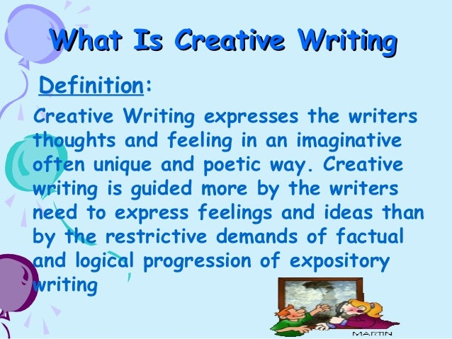 what is the meaning of creative writing