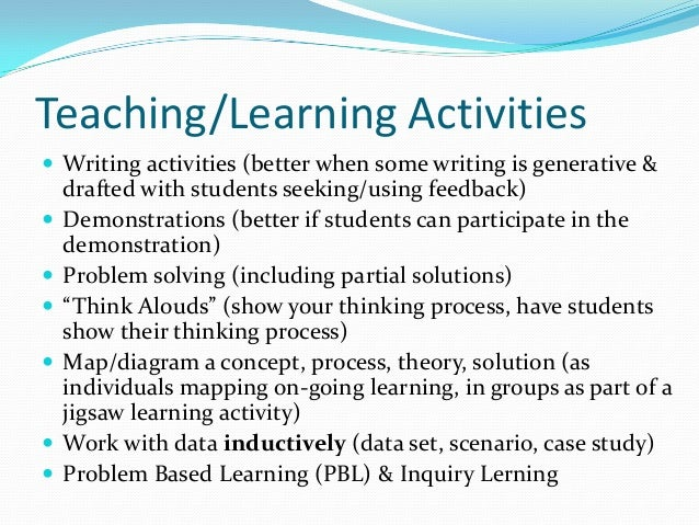 critical thinking teaching activities Thinking skills and creativity 6  an effective method for teaching critical thinking skills to high  includes activities focused on higher order thinking.