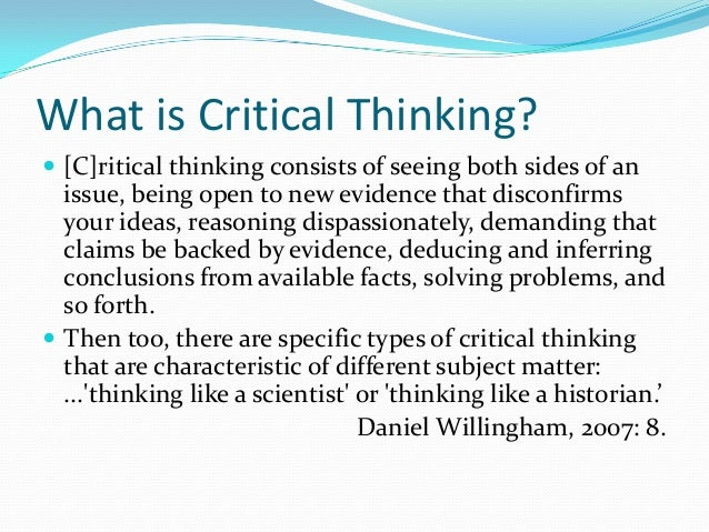 kuncel critical thinking