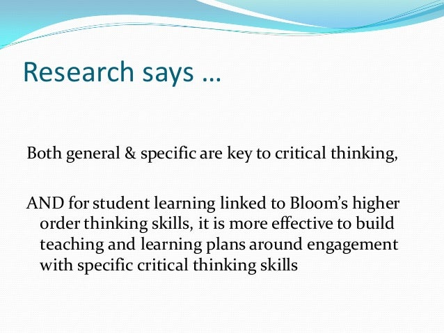 critical thinking in teaching The role of socratic questioning in thinking, teaching, & learning the critical mind is a questioning mind  international conference on critical thinking and.