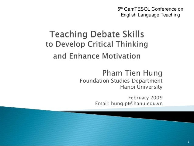 5th CamTESOL Conference on               English Language Teaching        Pham Tien HungFoundation Studies Department     ...