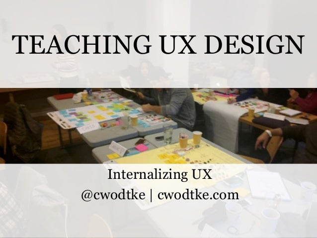 TEACHING UX DESIGN  Internalizing UX @cwodtke | cwodtke.com @cwodtke |  cwodtke.com | eleganthack.com | boxesandarrows.com...