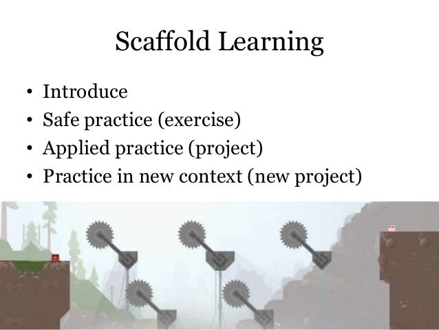 Scaffold Learning • • • •  @cwodtke |  Introduce Safe practice (exercise) Applied practice (project) Practice in new conte...