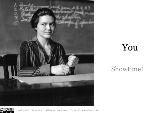 You Showtime!  @cwodtke |  cwodtke.com | eleganthack.com | boxesandarrows.com | Creative Commons Share Alike