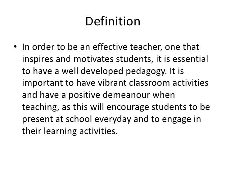 definition of effective teaching pdf