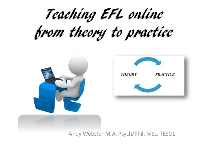 Teaching EFL online from theory to practice Andy Webster M.A. Psych/Phil, MSc. TESOL