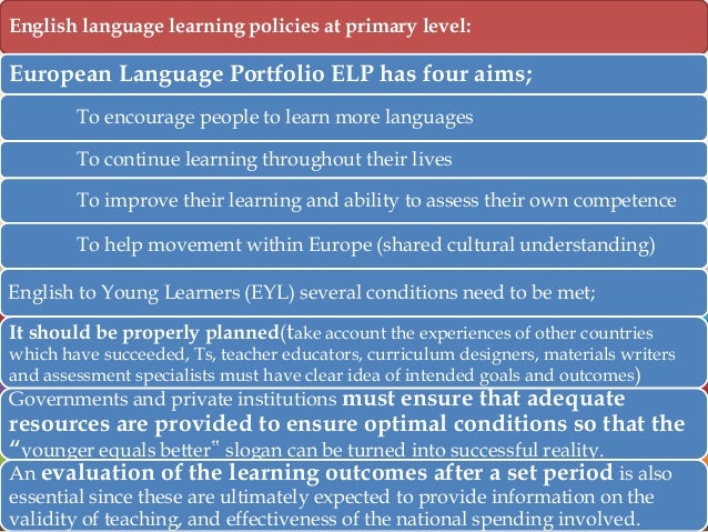 aims and objectives of teaching english Esl program goals/objectives in the placement of students into special education and gifted programs english language learners who qualify for gifted.