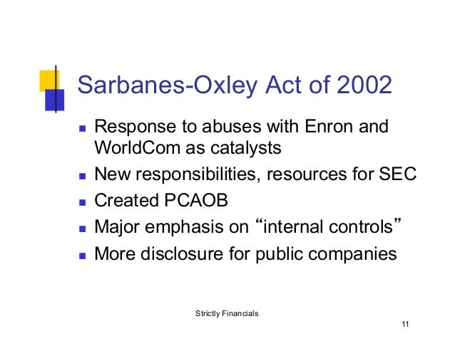 sarbane oxley act 2002 and federal sentencing An act to make provision for there are currently no known outstanding effects for the fraud act 2006 (sentencing) act 2000 (c 6) 29.