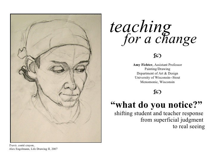 "teaching   for a change "" what do you notice?""  shifting student and teacher response  from superficial judgment  to real ..."