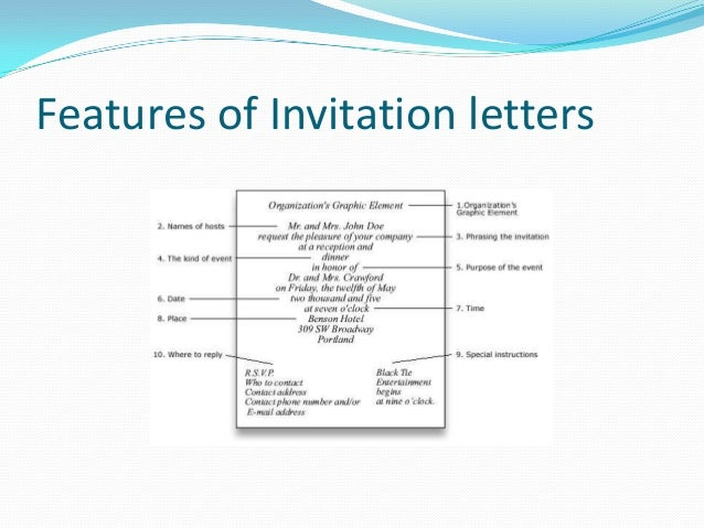 Functional text invitation and short message 6 features of invitation letters stopboris Choice Image