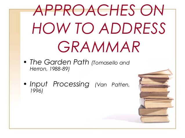 consciousness raising grammar tasks in an The question of whether or not grammar should be taught has been  ellis (1994 ) emphasizes that in consciousness-raising activities the learners are not.