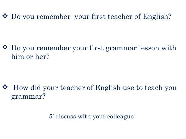 how to teach grammar thornbury