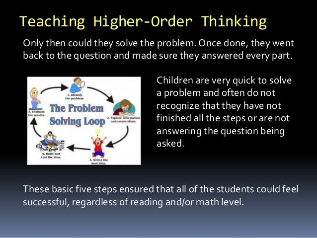 Centre for Extension Education aploon How to Encourage Higher Order Thinking