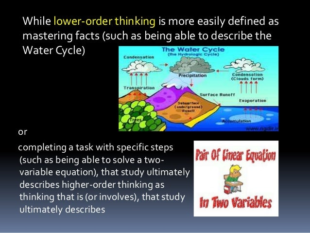 Low order of critical thinking