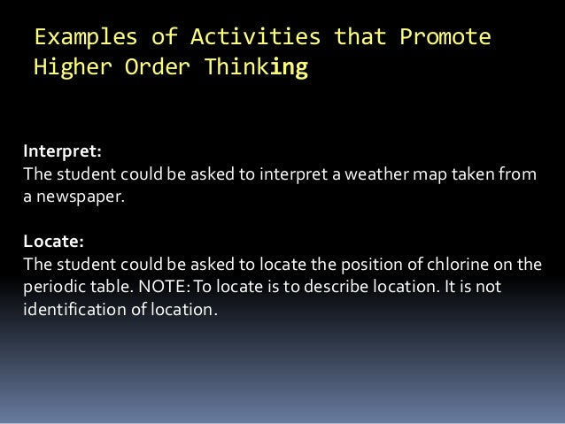 Teaching higher order thinking 21st century skills 75 examples of activities urtaz Choice Image