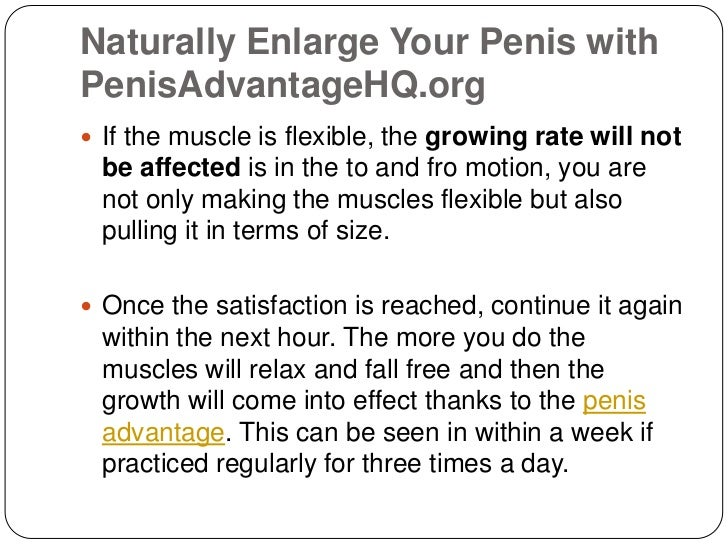 Natural Ways For A Bigger Dick