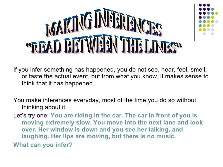 how to teach inference skills
