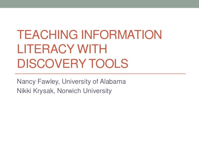 Teaching information literacy