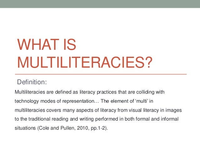 a description of the definition of literacy in education of students