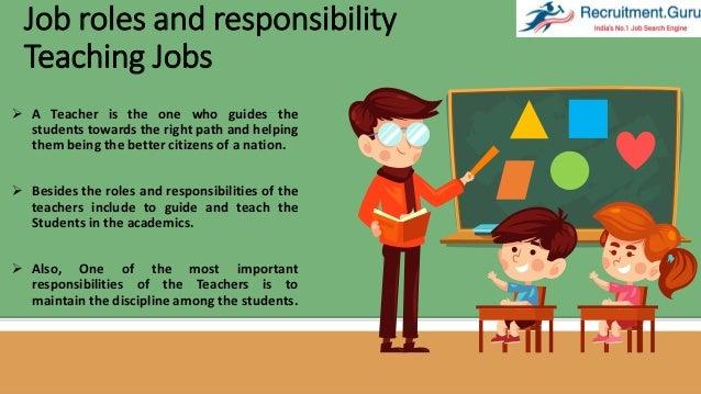 job responsibilities of a teacher