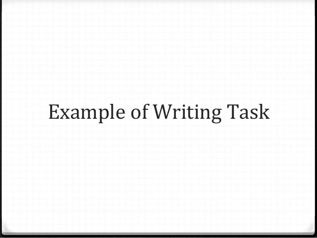 Example of Writing Task