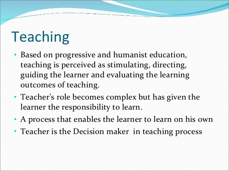 teaching learning process Examples of learning  the process of reflection starts with the student  of reflection and reflective writing for learning and teaching which you.