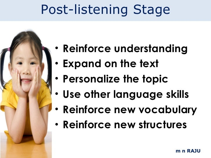 teaching listening to children Teach listening the research findings discussed in the previous chapter have  several important implications for teachers although many aspects of the.