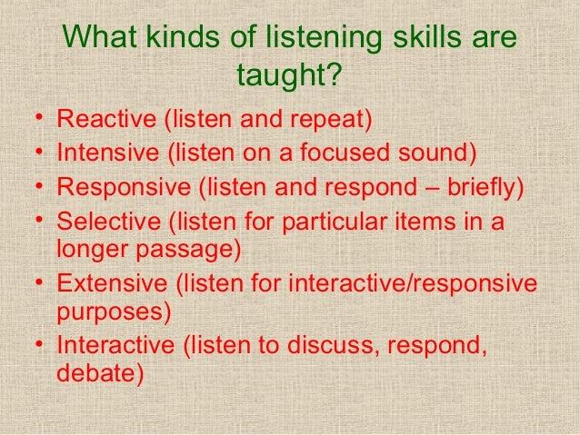 Listening & speaking skills teaching