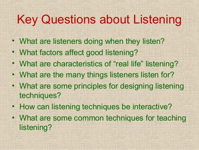listening speaking skills teaching