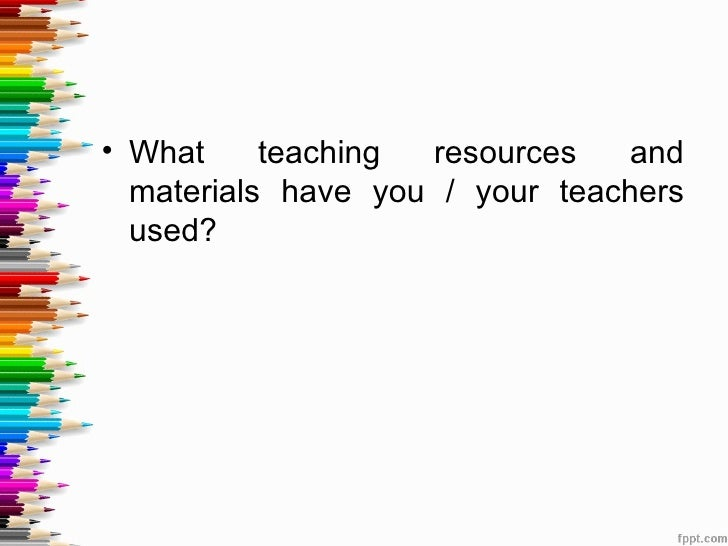 Teaching materials and resources