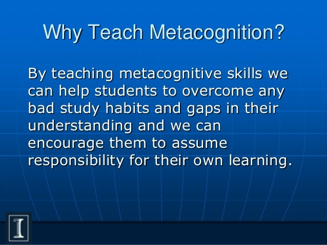 Metacognition study strategies
