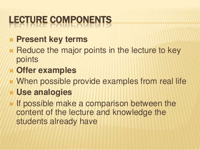 lecture method of teaching merits and demerits pdf