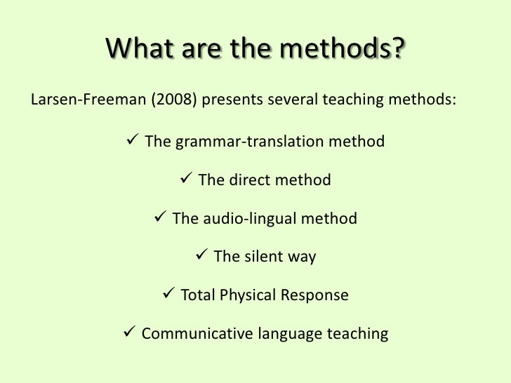 Language teaching methods and approaches ppt to pdf
